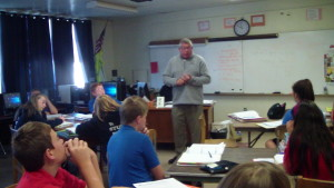 Mr. Keith Harrington, National History Day ambassador for Vermont, visits classes at St. Paul's.