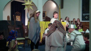 St. Paul's Christmas Play - Wise men presenting gifts to the Holy Family