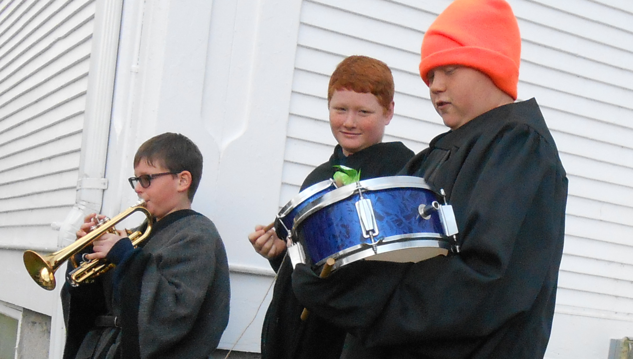 All Saints Day Band Duncan on Trumpet, Connor and James on Drums