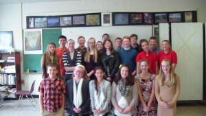 As an 8th grade fundraiser, students were allowed to dress-up for a donation of $1.