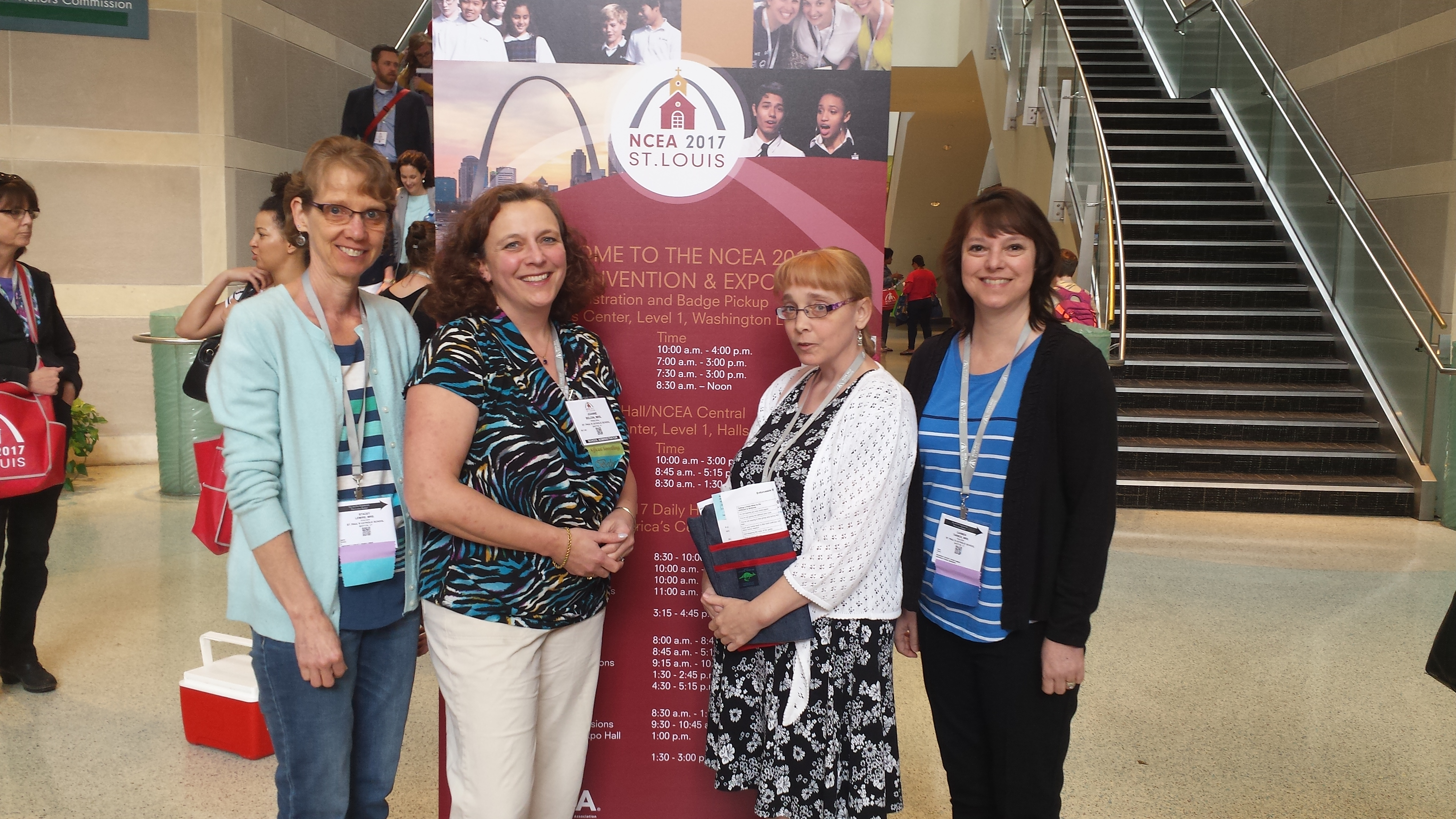 Mrs. Lemiere, Principal Beloin, Miss Wilson and Mrs. Tarbox attended the NCEA convention in St. Louis on April 17-20.